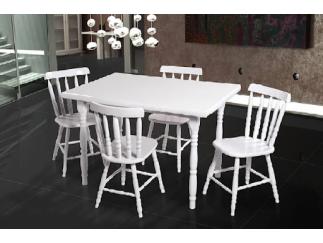 Conjunto de Mesa Torneada 4 Cadeiras